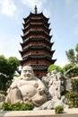 Bouddha de sourire à Suzhou Image stock