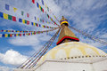 Boudhanath giant buddhist stupa in kathmandu himalaya nepal bodhnath is the largest and the de facto religious centre of s large Royalty Free Stock Photo