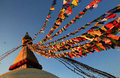 Boudhanath stupa bodnath stupa largest stupa nepal holiest tibetan buddhist temple outside tibet center tibetan culture kathmandu Stock Images