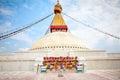 Boudhanath Stupa or Bodnath Stupa  is the largest stupa in Nepal Royalty Free Stock Photo