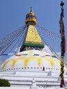 Boudhanath stupa kathmandu nepal bouddhanath or baudhanath or the khasa caitya is one of the holiest buddhist sites in in it is a Royalty Free Stock Images