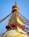 Boudhanath Stupa  in Kathmandu, Nepal Royalty Free Stock Photo