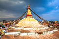 Boudhanath stupa kathmandu nepal a unesco world heritage site on the northeastern outskirts of bagmati Royalty Free Stock Images
