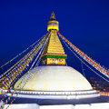 Boudhanath stupa in the kathmandu valley nepal ancient is one of largest world as of is a unesco Royalty Free Stock Photography