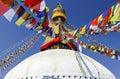 Boudhanath Stupa, symbol of Kathmandu, Nepal Royalty Free Stock Photo