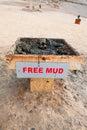 Boue libre sur la côte de la mer morte Photo libre de droits
