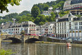Bouillon belgium july view on the semois river and city of Stock Photo