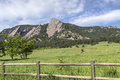 Boulder colorado flatirons climbing rocks in Royalty Free Stock Images