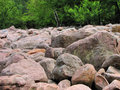 Boulder field large rocks in Royalty Free Stock Photo