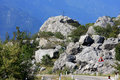 Boulders in a barren rocky Italian landscape Royalty Free Stock Photo