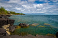 Boulders, lake superior, spring Royalty Free Stock Photo