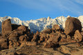 Boulders in the sierra s california usa eastern mountains califonia Stock Photography