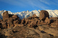 Boulders in the sierra s california usa eastern mountains califonia Royalty Free Stock Photos