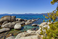 Boulders water clarity the legendary of lake tahoe s is shown in this image with on the lake s east shore Stock Photos