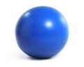Boule bleue d isolement d exercice Photo libre de droits