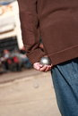 Boules Player Royalty Free Stock Photo