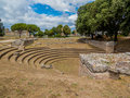 The Bouleuterion in the Agora of the Greek city of Paestum, Italy Royalty Free Stock Photo