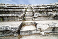 Bouleuterion of aphrodisias in denizli stairs turkey Royalty Free Stock Photo