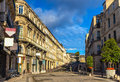 Boulevard Ledru-Rollin in Montpellier - France Royalty Free Stock Photo