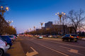 Boulevard of liberty at sunset unirii leading to romanian parliament in bucharest romania called house the people Stock Image