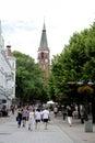 Boulevard Monte Cassino of Sopot in Poland Royalty Free Stock Photo
