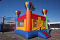 Bounce house from a distance Royalty Free Stock Photo