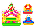 Bouncing castles or jumping design Royalty Free Stock Image