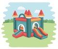 Bouncy castle in park