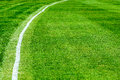 Boundary line on a cricket field white used to mark the exterior of the playing area known as the Royalty Free Stock Image