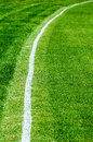 Boundary line on a cricket field white used to mark the exterior of the playing area known as the Stock Photo