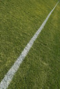 Boundary line of playing field Royalty Free Stock Photo