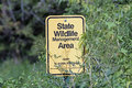 A Boundary Marker of a Minnesota State Wildlife Management Area Royalty Free Stock Photo