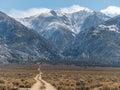 Boundary peak tallest in nevada the mountain Stock Photos