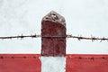 Boundary Post. Royalty Free Stock Photo