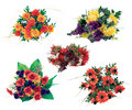 Bouquet of artificial flowers Royalty Free Stock Photos