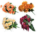 Bouquet of artificial flowers Royalty Free Stock Image