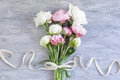 Bouquet of beautiful peonies Royalty Free Stock Photo