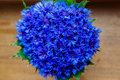 A bouquet of beautiful spring flowers blue cornflower cyanus on Royalty Free Stock Photo