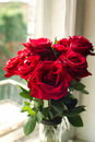 Bouquet of big red roses