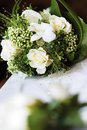 Bouquet blanc de mariage Photos stock