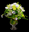 Bouquet of calla lilias and roses Royalty Free Stock Photo