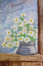 Bouquet of daisies painting Royalty Free Stock Photo