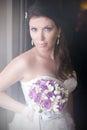 Bouquet de portrait et de mariage de bride s Images stock