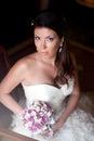 Bouquet de portrait et de mariage de bride s Image stock