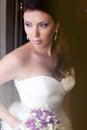 Bouquet de portrait et de mariage de bride s Images libres de droits
