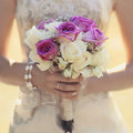 Bouquet doux de mariage Photographie stock