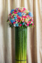Bouquet of flower beautiful and elegant curtain background Royalty Free Stock Photo