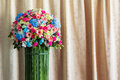 Bouquet of flower beautiful and elegant curtain background Stock Photos
