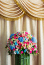 Bouquet of flower beautiful and elegant curtain background Stock Images