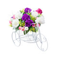 Bouquet flower and hand made bicycle form use for multipurpose Royalty Free Stock Image
